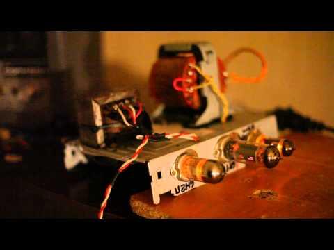 видео: Усилитель гитарный ламповый. схема Чамп 5ф1.