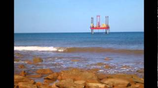 Woodside jack up rig James Price Point intertidal zone.wmv