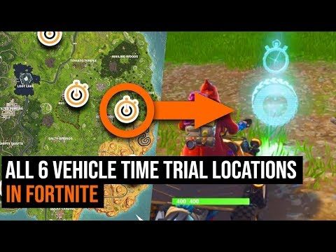 ALL 6 Vehicle Time Trial Locations In Fortnite - Season 6 Challenge