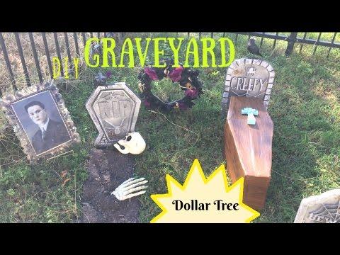DIY Halloween Graveyard | Dollar Tree DIY