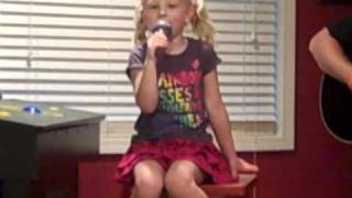 4 year old Emma singing Baby by Justin Bieber