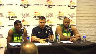 Coach Cristobal and players talk post game Vegas Bowl
