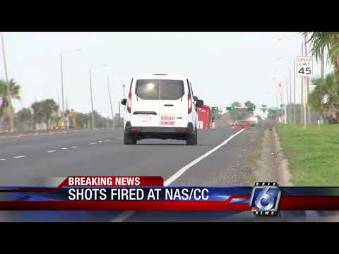 Shots fired after man crashes into NASCC North Gate