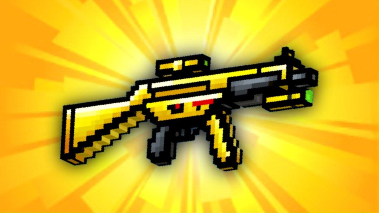gold guns in pixel gun 3d