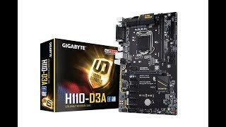 GIGABYTE introduced H110-D3A Motherboard for Mining Rigs Price from $ 70
