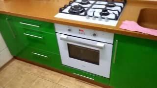 Мебель для кухни. Крашенненые фасады в алюминиевой рамке. Столешница из искусственного камня.(, 2016-10-01T19:08:48.000Z)