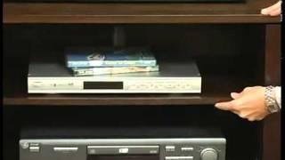 Southern Enterprises MS9876H White TV Stand Media Console ViveDecor.com