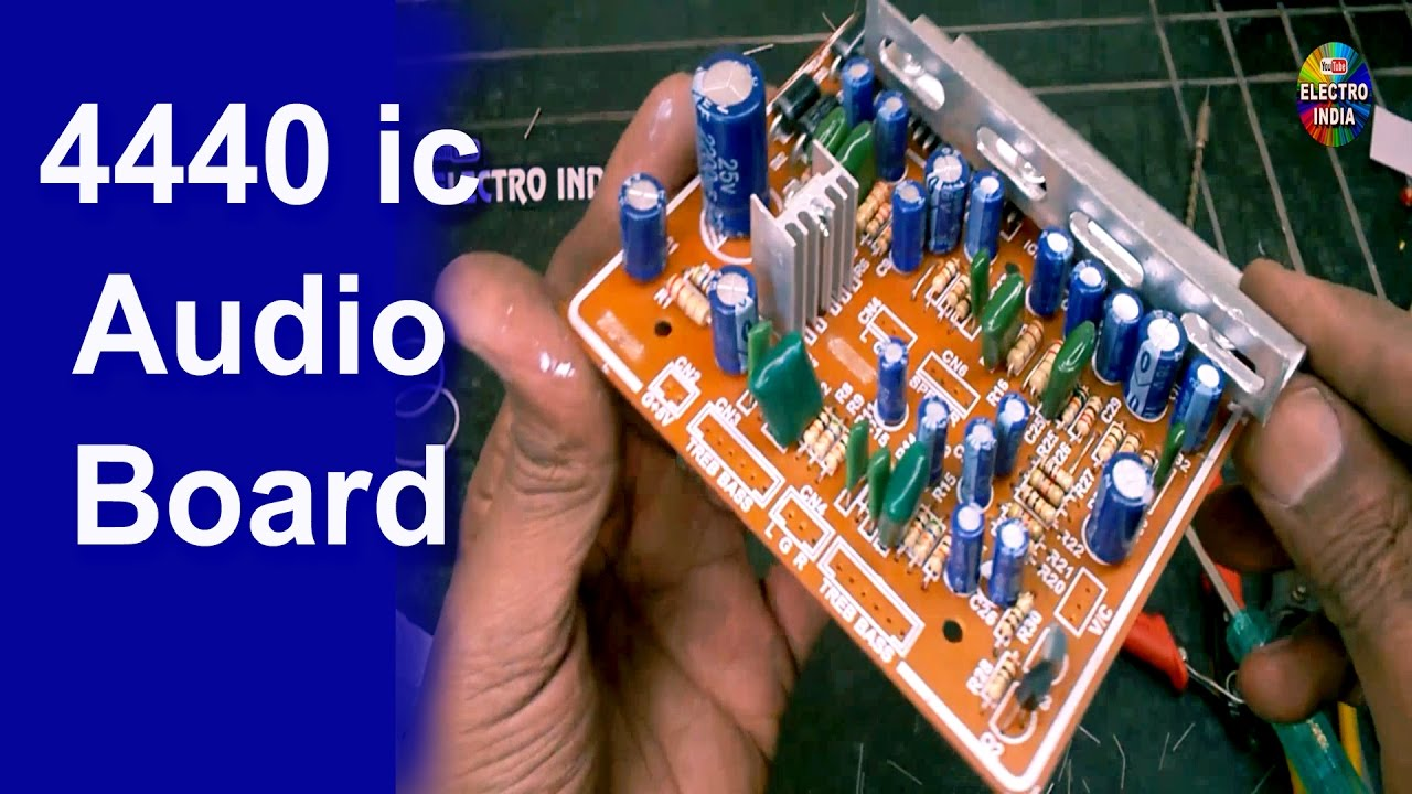 diy audio lifier board 4440 ic mounting cutting soldering Start Capacitor Wiring Diagram diy audio lifier board 4440 ic mounting cutting soldering hindi electronics electroindia youtube