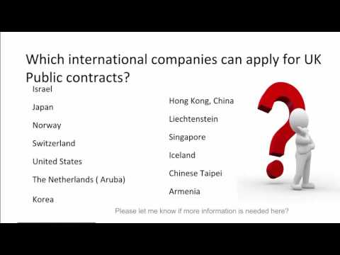 Which international businesses can bid for UK Public Contracts?