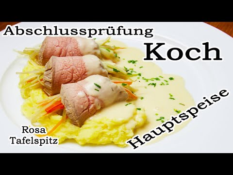 Meine Abschlussprüfung Koch 2020 [Hauptspeise] Rosa Kalbstafelspitz