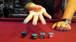 Pool Chalk - Balabushka Chalk Finger Test