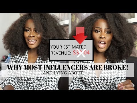 WHY INFLUENCERS ARE BROKE! THE TRUTH.