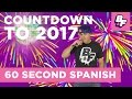 Counting Backwards in Spanish with BASHO FRIENDS 60 Second Spanish New Year s Eve Countdown