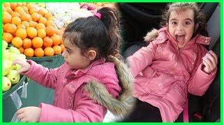 Rüya ile Market Alışverişi Yaptık, Abur Cubur, Meyve ve Sebze Aldık l Çocuk Videosu.