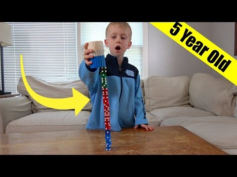 Dice Stacking Trick Shots by a 5 Year Old! | Thats Amazing