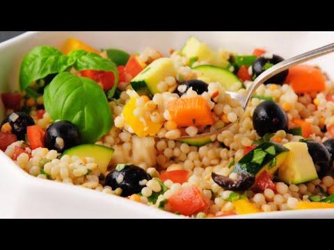 Israeli Couscous Salad - Ptitim