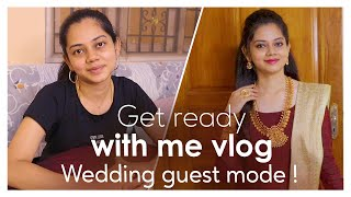 Wedding Guest Makeup | Hairstyle & Outfit | GRWM | Anithasampath Vlogs