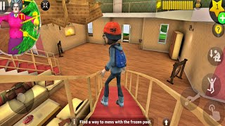 Scary Teacher 3D Update Special Levels Control Nick Christmas Adventures in Scary House(Android,iOS)