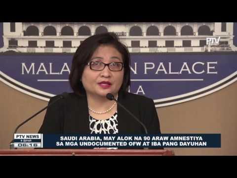 Saudi Arabia, may alok na 90 araw amnestiya sa mga undocumented OFW at iba pang dayuhan