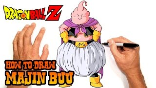 How to Draw Majin Buu | Dragon Ball Z