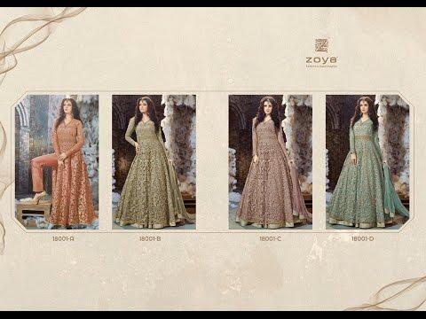 LATEST INDIAN DRESSES COLLECTION 2017 || ZOYA DRESSES MATERIALS || ZOYA COLOUS MAGIC VOL 1