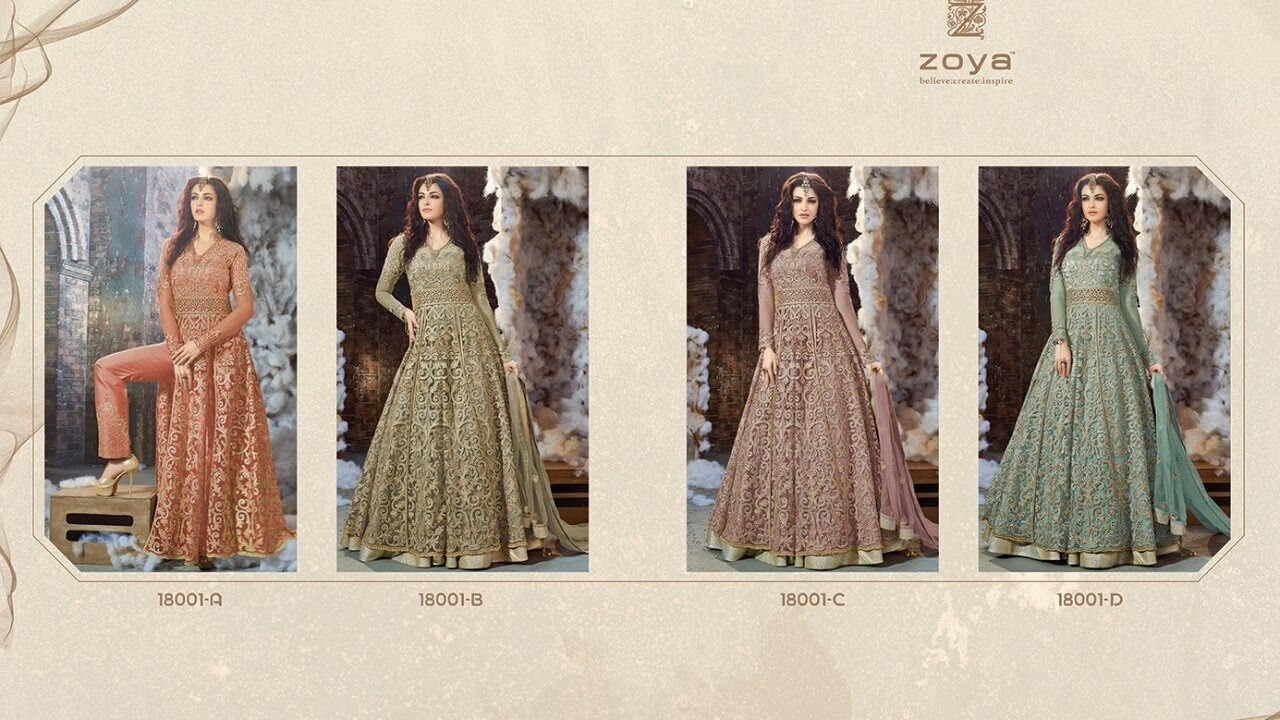 LATEST INDIAN DRESSES COLLECTION 2017 || ZOYA DRESSES ...