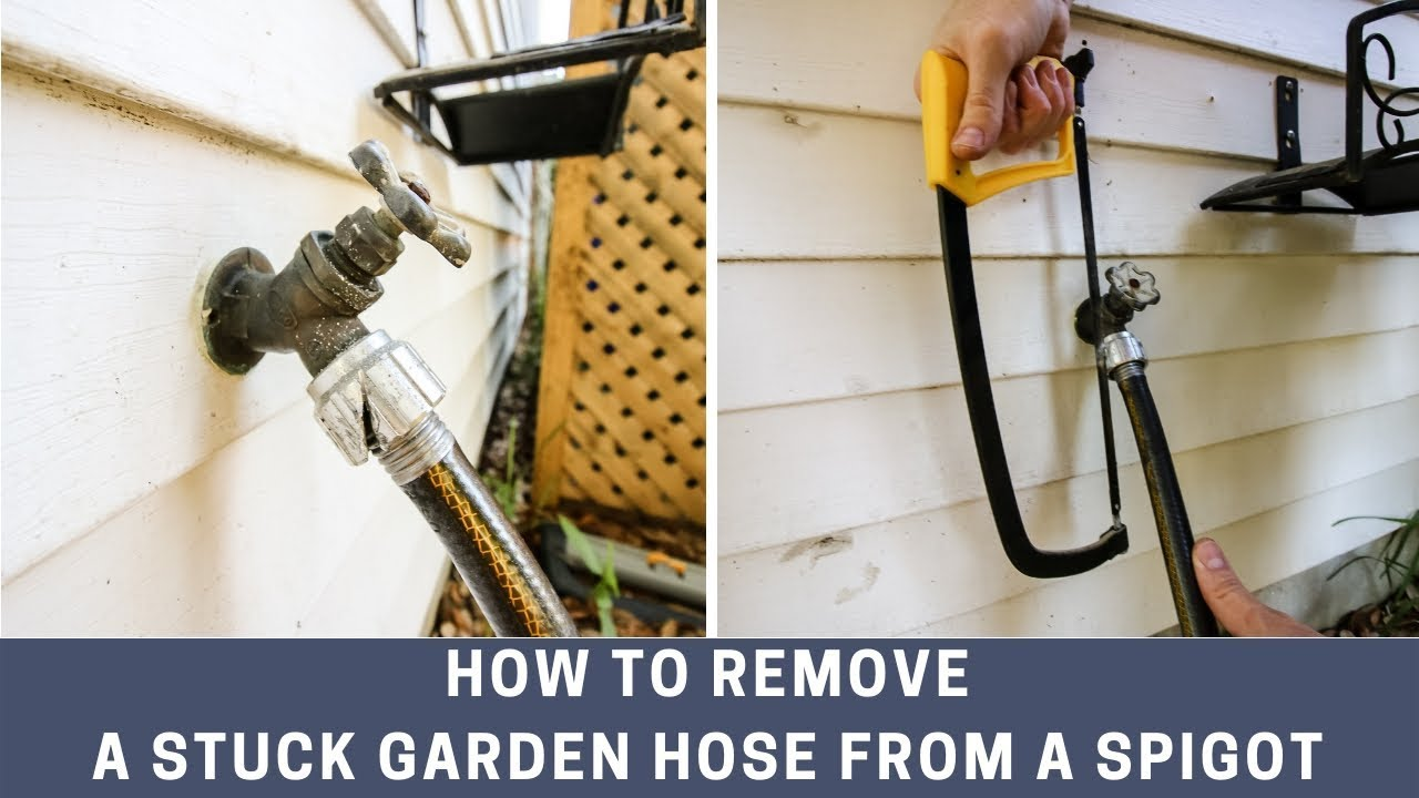 How To Remove A Stuck Hose From An Outdoor Spigot Youtube
