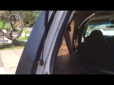 Expedition Rear Window Supports Replacement And Temporary Fix Youtube