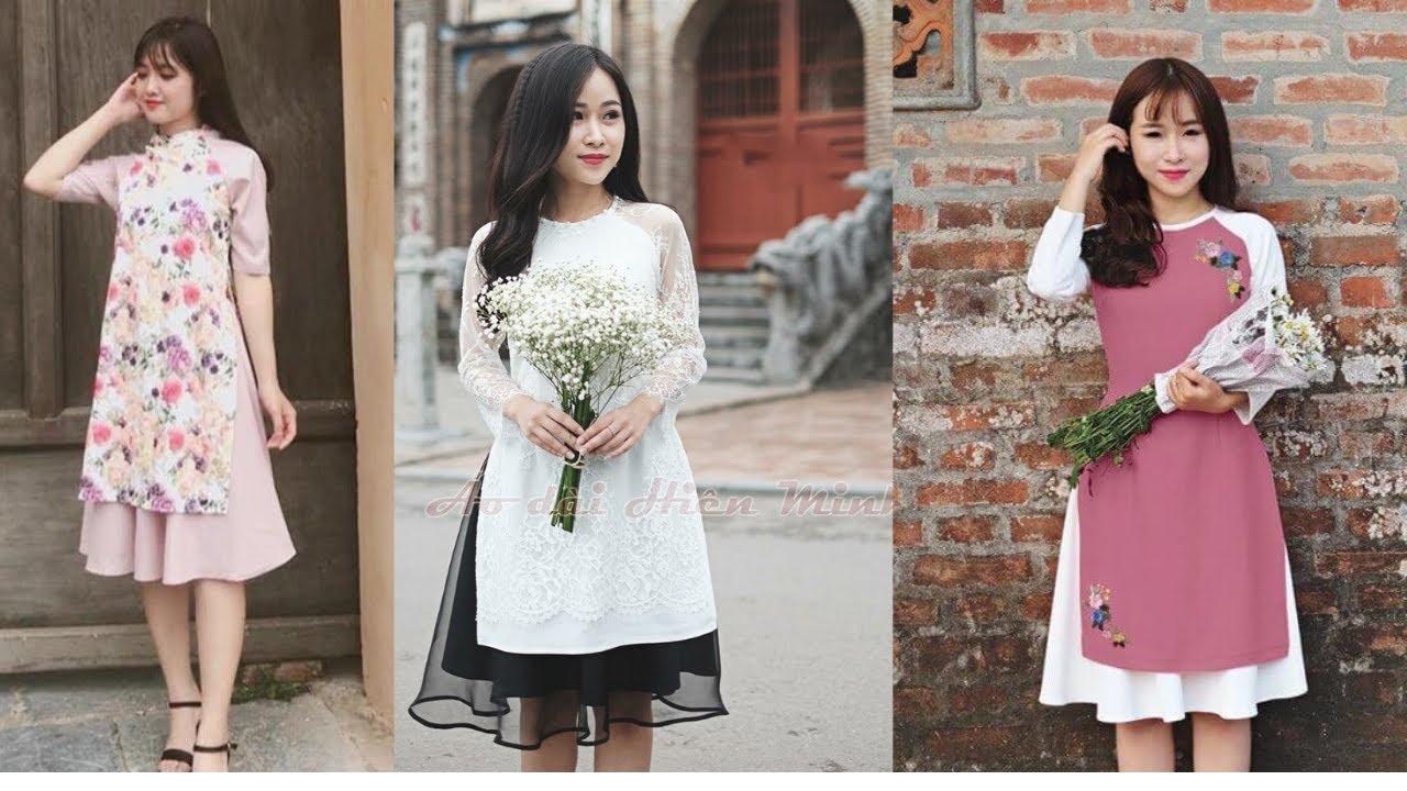 Áo dài Cách Tân, áo dài Truyền Thống, áo dài cưới 2019 ĐẸP- Áo dài cách tân Hiền Minh