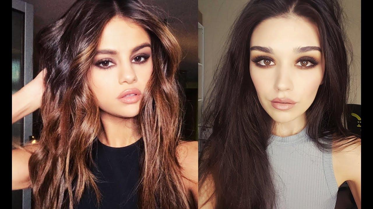 Selena Gomez Smokey Eyes Inspired Makeup Youtube