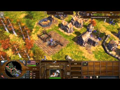 "5. ""Saratoga"" The Warchief's Campaign on Hard Walkthrough - Age of Empires III Expansion [HD]"