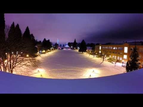 Time Lapse of Snowstorm at University of Portland