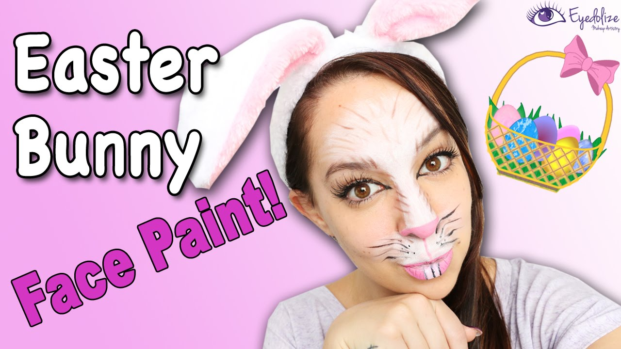 Easter Bunny Face Paint Tutorial by EyedolizeMakeup YouTube