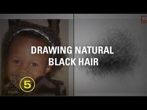 tips drawing natural black hair