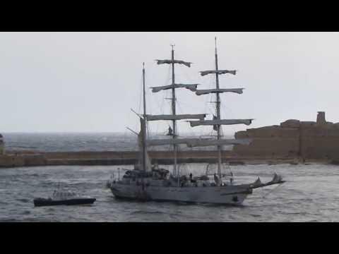 Indian Navy training ship 'Tarangini' re-visits Malta, 20 May 2018