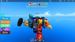 Roblox Weight Lifting Simulator 3 Glitch dans le ciel!