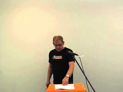 Redebeitrag von Dr. Jürgen Martin (Yonny) beim Politischen Aschermittwoch 2013 der Piraten in Stuttgart