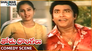 Thodu Dongalu Movie || Sarathi Hilarious Comedy With Geetha || Krishna,Chiranjeevi || Shalimarcinema
