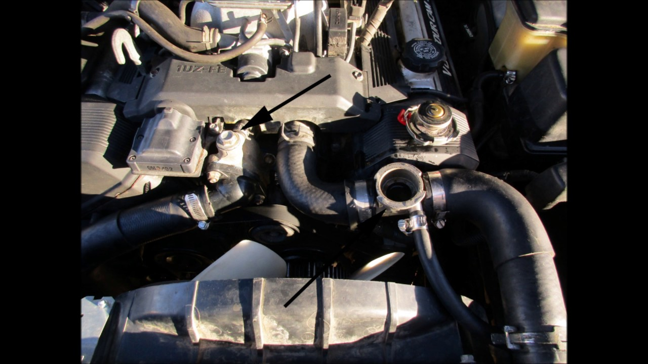 hight resolution of solving 1993 ls400 lexus overheating problem bleeding air from cooling system