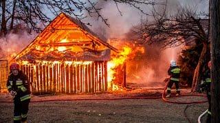Pożar budynku mieszkalnego i zabudowań gospodarczych w Słopnicach