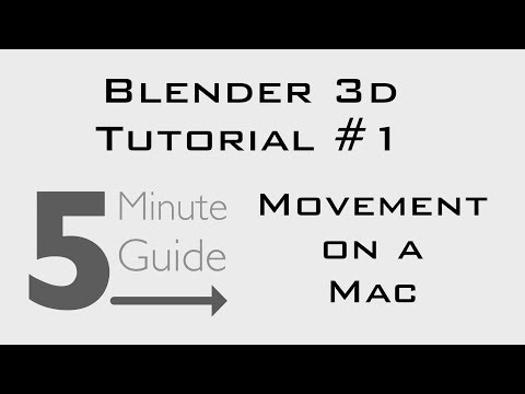 Blender Tutorial #1 - Movement on a Mac [How To]