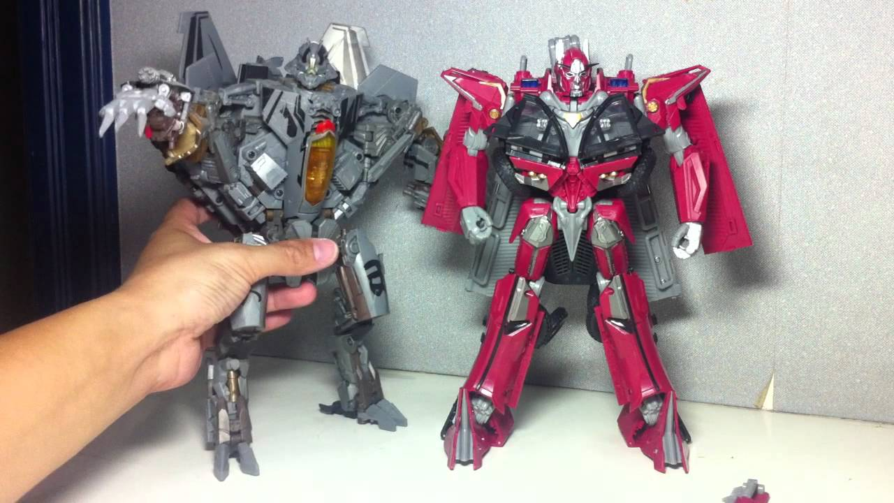 transformers dotm leader sentinel prime - robot mode - youtube