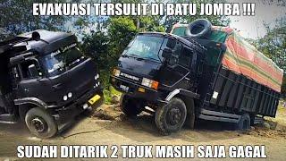 Download TENAGA BADAK !!! Truk Tua FUSO Goprak Tarik 2 Truk Sekaligus di Batu Jomba (Bukan Sitinjau Lauik)