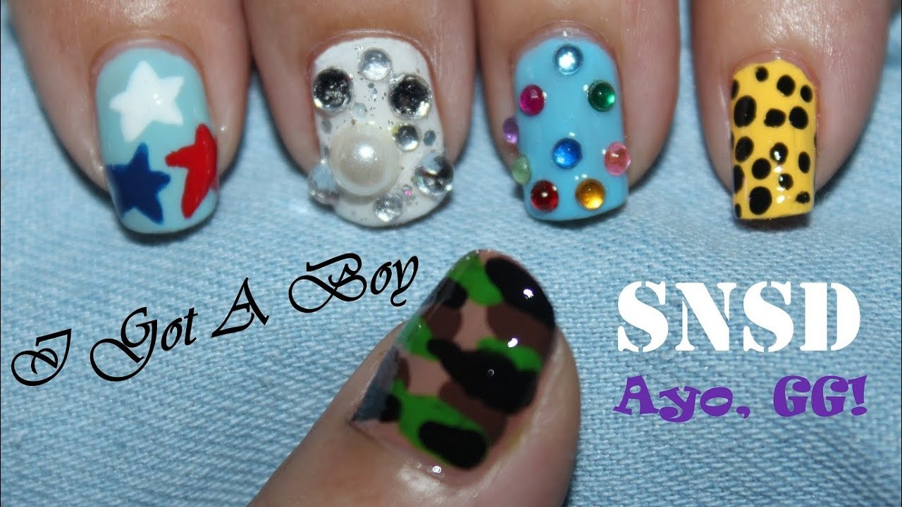 Snsd I Got A Boy Nail Art Youtube