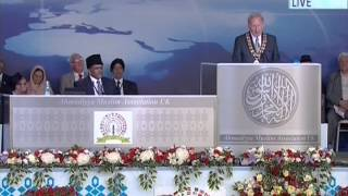 Graham Hill, Mayor of Alton UK at Jalsa Salana UK 2014