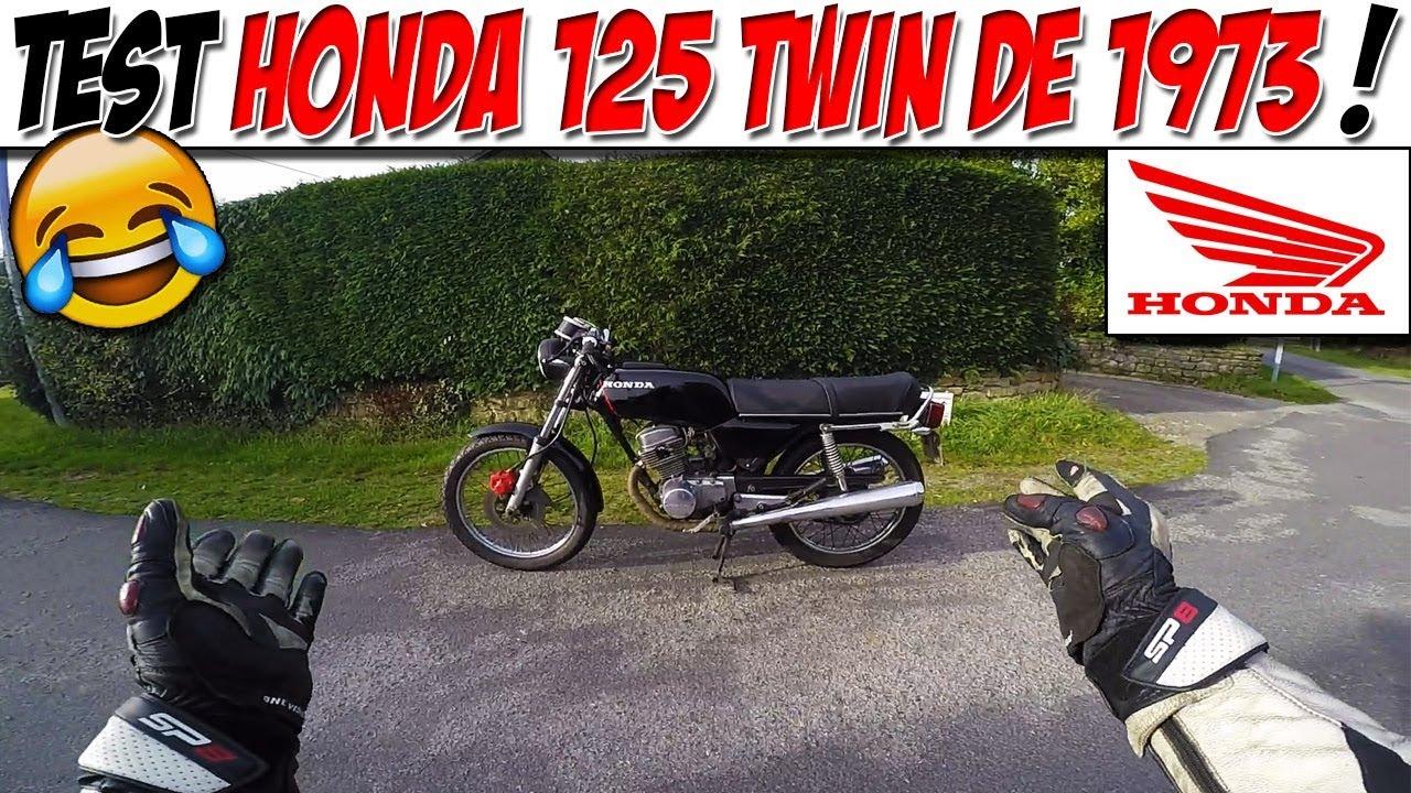 Moto Vlog 110 Test Honda Cb 125 Twin Je Teste Une Mamie