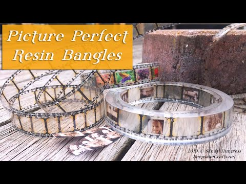 Picture Perfect Resin Bangle Bracelets-Memory Jewelry Tutorial