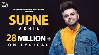 Akhil - Supne | Lyrical Video | Latest Punjabi Song | New Official Song |Hit romantic love song