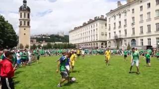 Футбольний матч між фанатами України та Північної Ірландії