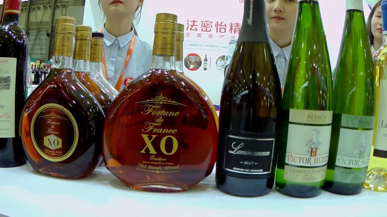 Targi zywnosci, cz 2 alkohole, Chiny, cudowne kopie francuskich alkoholi.